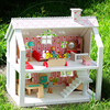 2017 wholesale baby wooden doll house playsets, funny kids wooden doll house playsets, hot wooden doll house playsets W06A041B