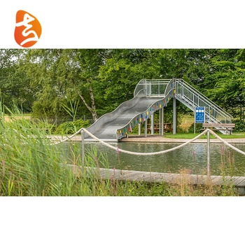 Outdoor playground adult and children large entertainment stainless steel water slide equipment