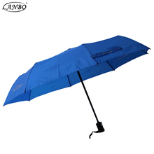 Chinese manufacturer automatic canopy folding umbrella with Super splash waterproof fabric