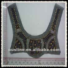 national rhinestone garment collar with sequin and beads,decorative vintage lady collar garment accessory