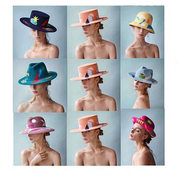 Merino nepal wool hat wholesale printed Fashion Vintage Panama Hat Women  Ladies Floppy wholesale wool felt 6b551231dee