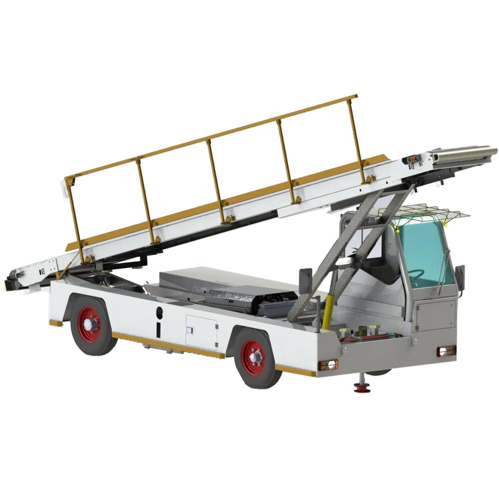 self-propelled aircraft airport baggage loading <strong>truck</strong>/ plane luggage unloading <strong>truck</strong>/ with tow tractor and ramp conveyor