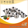 12PCS Stainless Steel Cookware Set With Stainless Steel Lid