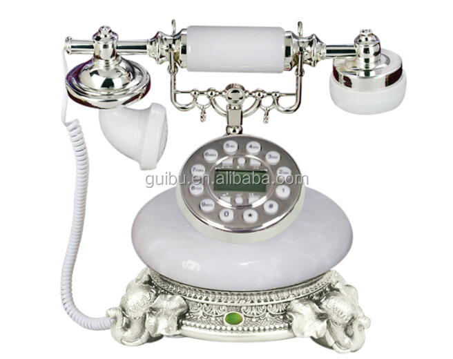 european retro fashion creative antique telephones jade fixed telephone landline home phone