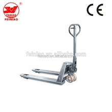 China manual high lift pallet truck with hand brake