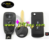 Modified flip folding key with 2+1 buttons for hyundai key case tucson key blank