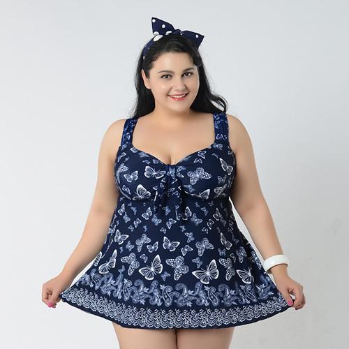 8xl swimwear summer style plus size maillot de bain femme vintage flower cute skirted tankini. Black Bedroom Furniture Sets. Home Design Ideas