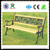 antique cast iron and wood park bench(QX-146C)