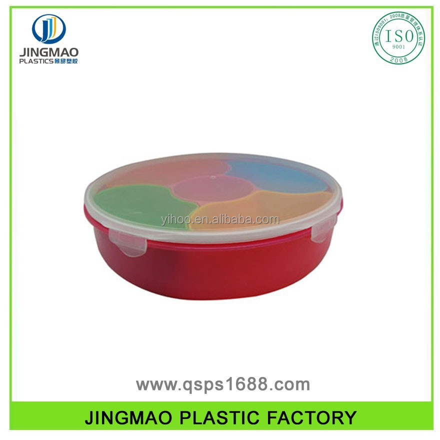 sectional Plastic Divided Food Storage Tray for children
