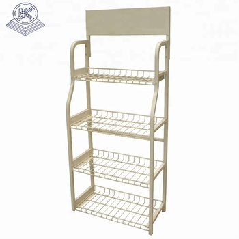 heavy duty durable pegboard shelf rack with 4 layer