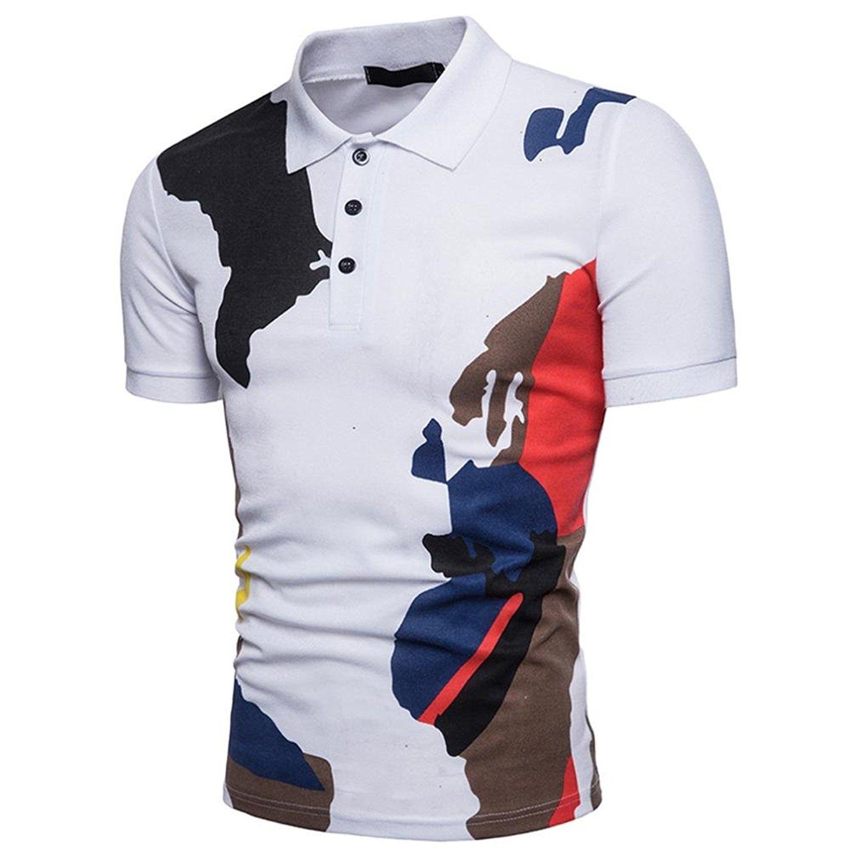 Butha Mens Regular-Fit Polo Shirt Soft Short Sleeve Baseball Tshirt