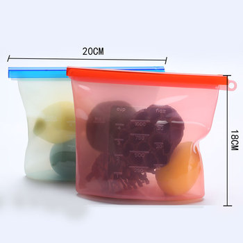 IN STOCK BPA Free reusable silicone food storage bags