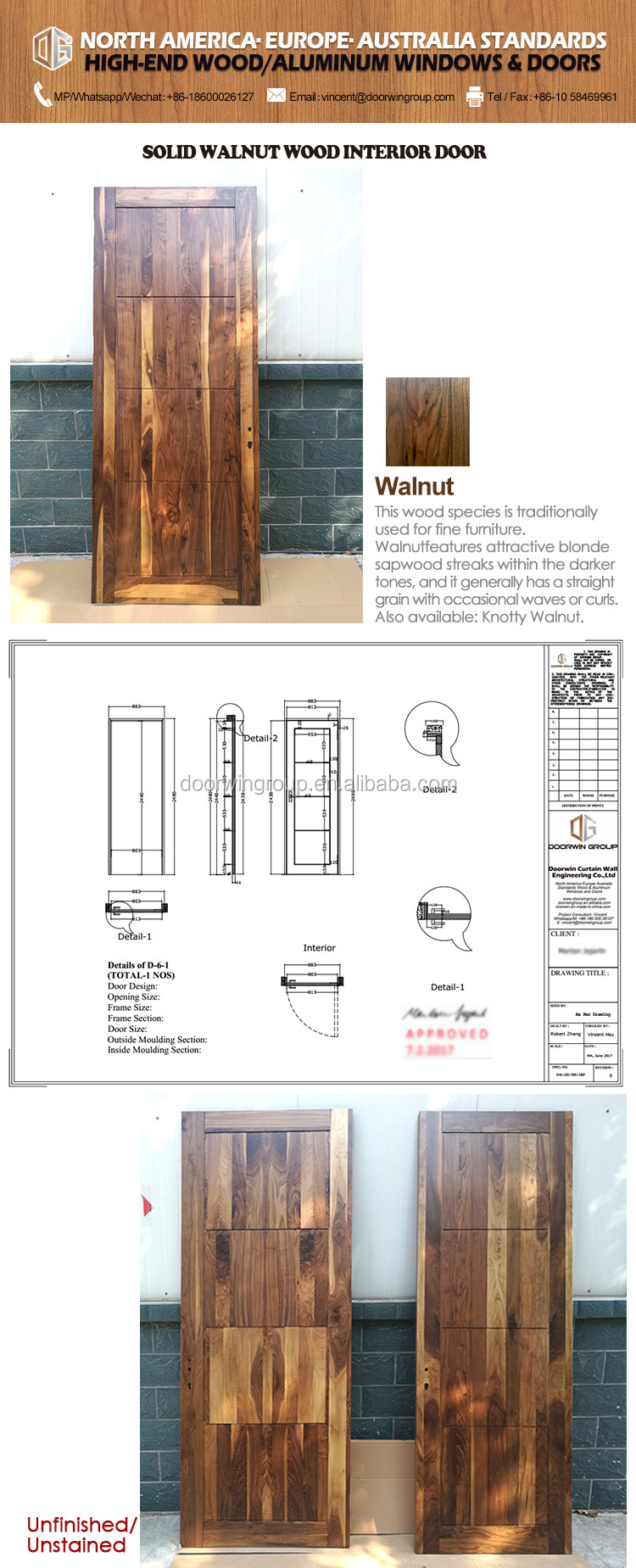 Interior Door Designs For Home Panel Modern Simple Style Timber ...