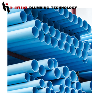JH0427 blue color pvc pipe 2 inch pvc pipe blue large diameter blue pvc pipe with bell mouth