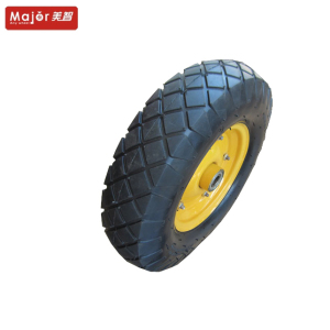 Factory directly 4.00-8 400-8 pneumatic rubber 16 inch air garden trailer/wheelbarrow/farm cart wheel
