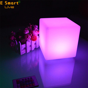 15cm romantic portable wireless led cube table lamp used at hotel restaurant home living dinning room