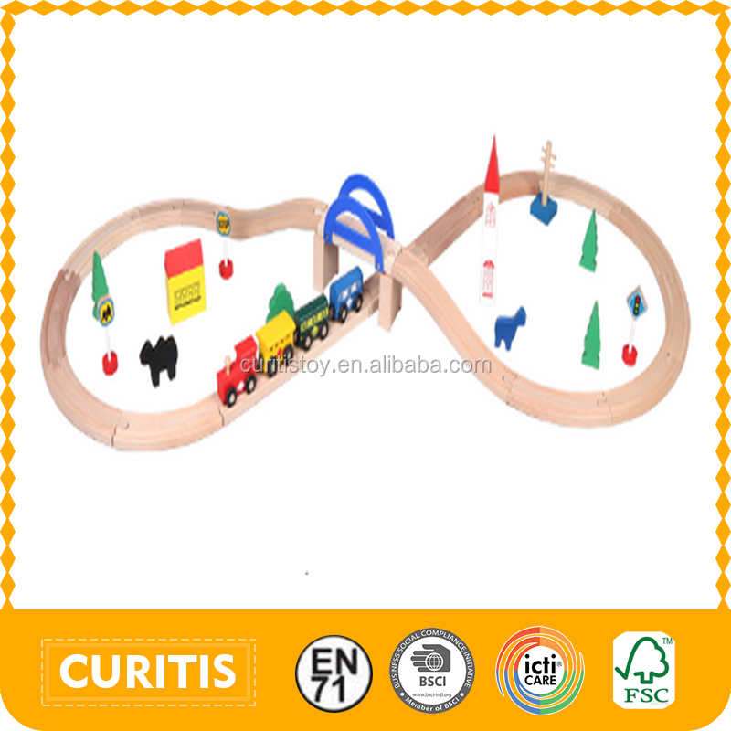 2015 New Product Toys For Children Wooden Railway Rail Toy For Kid