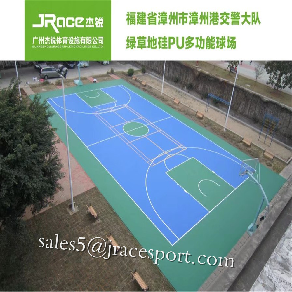 Polyurethane Plastic Basketball Court Flooring/tennis