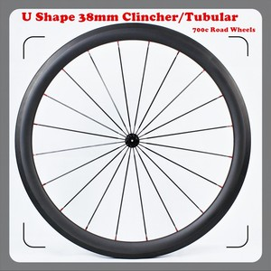 700c road 27mm width wheels bike, carbon disc U shape stiffness carbon track disc wheel, carbon clincher disc 38mm wheel