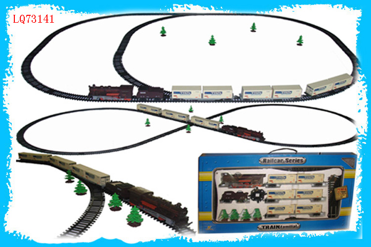 Kids Electric Track Train for Children Ride track toys mini train with track