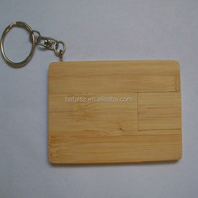 slip bamboo card usb flash drive 4gb 8gb
