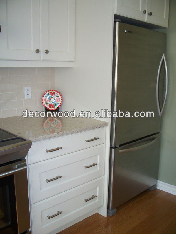 3 Drawers White Wooden Kitchen Base