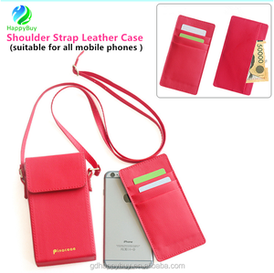 new design for women shoulder strap leather wallet phone case cover for iphone 6 6 plus 7 7 plus