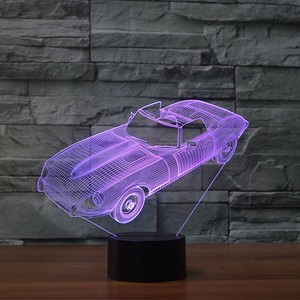 Bedside Car Shape Deco 3d Visual Lamp