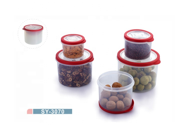 10pcs BPA Free Plastic Round Food Container Box Set