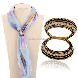 wholesale custume jewelry rhinestones scarf ring accessories for women