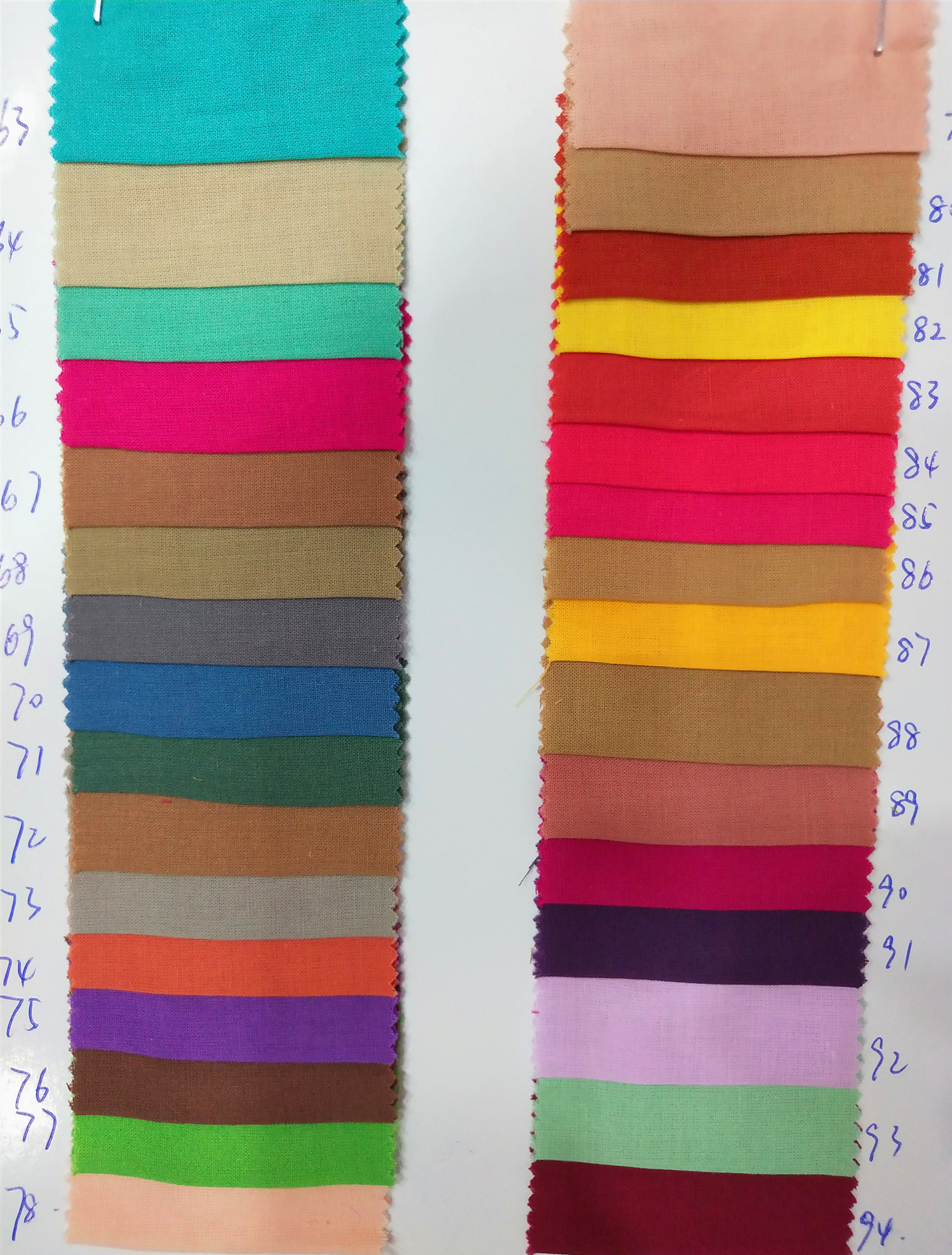 100% cotton yard dyed plain voile fabric