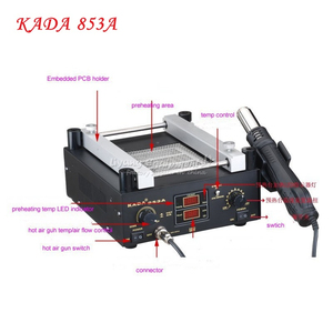 220/110V 600W KADA 853A SMD Rework Soldering Pre-heating Station Warm-up Infrared rays Hot air gun