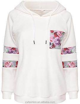 746ebc39d Latest Design Spring Fleece Long Sleeve Women Off White Hoodie ...