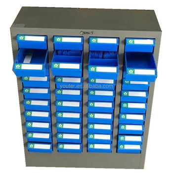 High Quality YOUTER Steel Spare Parts Storage Cabinet ABS Oilproof Plastic Drawers