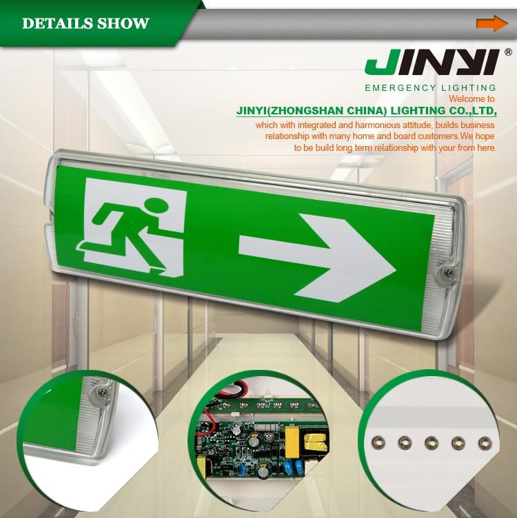 Jinyi Jy-10388a Ip65 Led Emergency Exit Light For Hotel Public ...