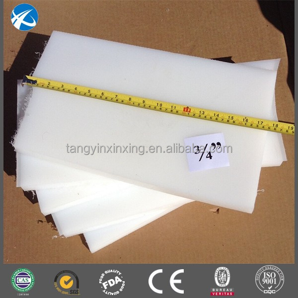 virgin hdpe 10mm thick flexible cutting board/black uhmwpe wear block