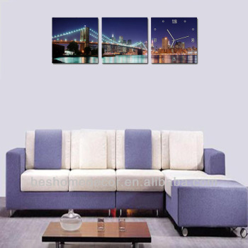 Brooklyn Bridge canvas picture wall clock