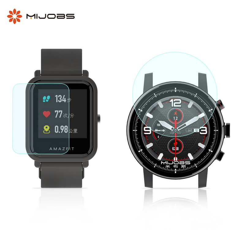 Mijobs Anti Shock screen protector film  for  huami Amazfit bip Amazfit watch 2 screen protective film fitbit watch