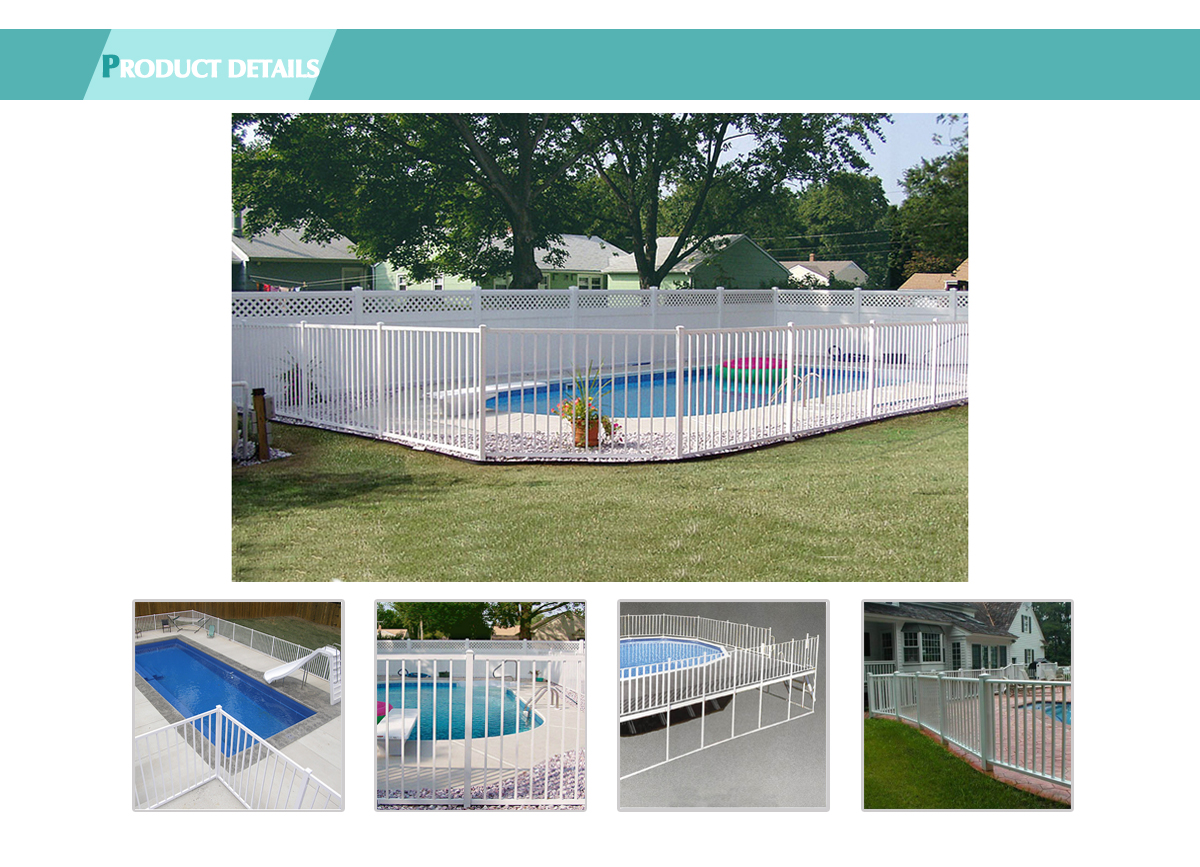 High Quality Security Garden Fencing Panels Aluminum Swimming Pool Fence