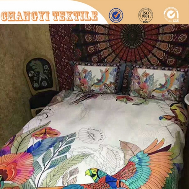 100% Polyester Microfibre 3d Bed Sheet With Softly Feeling, Disperse Panel  Printing 3d Duvet