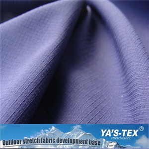 Polyester And Spandex Cool Touch Sweat Resistant Outdoor Fabric Ribstop Plaid Woven Fabric For Garments