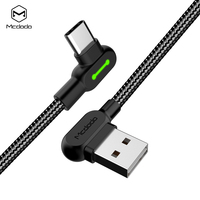 Amazon Aliexpress Hot Selling 1.5m/2m 90 Degree Right Angle Braided USB C USB-C Type C Type-C Cable for Charging and data sync