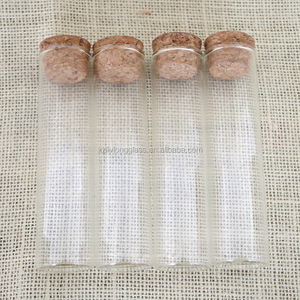 Wholesale 60ml Glass Spice Herb Tubes Jars Bottles with Cork D30mm*H120mm