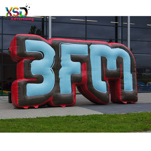 Durable inflatable 3fm logo model / advertisement inflatable brand letters replica