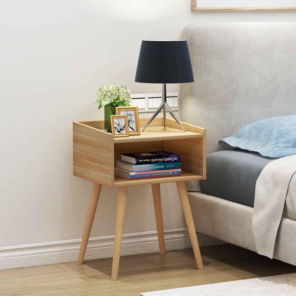 Japanese style simple bedside table Bedroom white bedside table Nordic mini bedside cabinet Simple locker Bedside cupboard-B