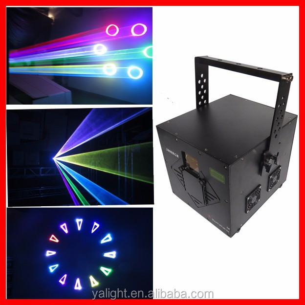 3w programmable laser light projector / 3w rgb mini laser light projector for dj/3w mini laser stage lighting projector