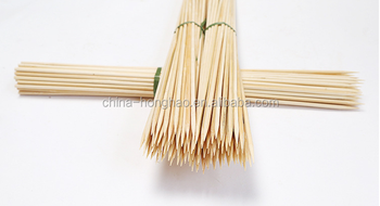 HY Factory Wholesale Natural BBQ Use 5.0mm*50cm bamboo skewers or bamboo sticks