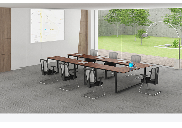 Meeting room Teak wood 8 person modern conference table