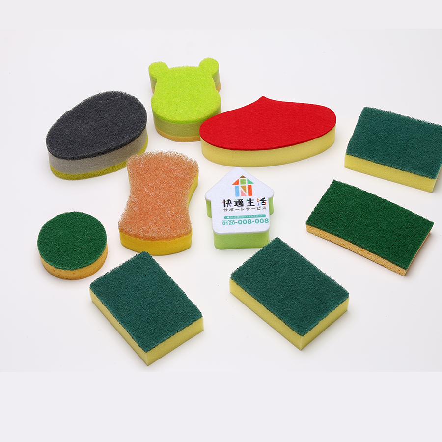 Pieces Abrasive Cleaners High Density Sponge