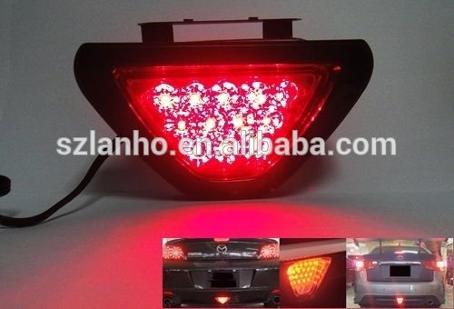 2016 Universal F1 Style 12 LED Red Car Rear Tail Third Brake Stop Safety Lamp Light